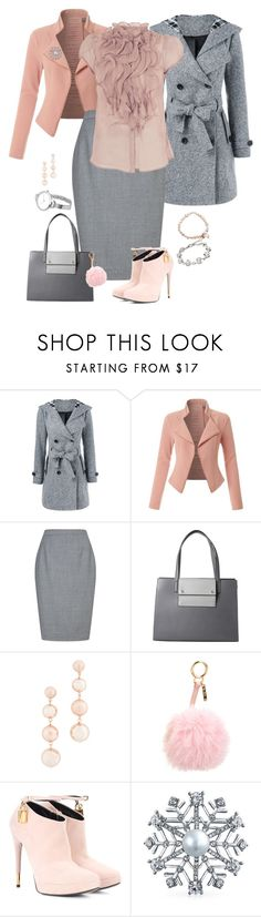 """Winter Capsule, Grey skirt"" by piakarlson on Polyvore featuring LE3NO, Reiss, Parlor, Rebecca Minkoff, Fendi, Tom Ford and Bling Jewelry"