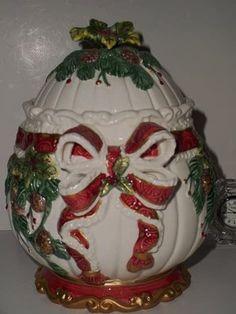 Retired Christmas Fitz Floyd Cookie Jar ❤