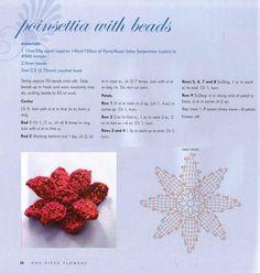 Цветы, вяжем крючком - Наталья Кравченко - Picasa Web Albums...poinsettia with beads... Free pattern!