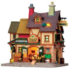 "Lemax 10"" Porcelain Village Building Michelle's Bakery ($36.99 Ace Hardware)"