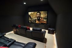 Small room becomes smart home theater.
