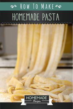 Best Homemade Pasta Recipe | Easy Instructions for one of the Best Homemade Pasta Recipes | homemaderecipes.com