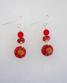 Gifts under 5 Dollars Daisy Earrings by SarahsArtisanJewelry, $4.99