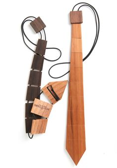 For the guy or girl who has everything: try a wooden tie! #style