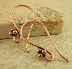 71506d9da Jewelry findings · 5 Pairs Copper Ear Wires - 4 Ball Accent by  UnkamenSupplies on Etsy https:/