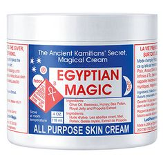 Egyptian Magic Cream--improves your complexion, heals scars, relieves many skin ailments, heals dryness, leaves your hair with a lustrous sheen, and more.Treatment for hair - hair will be shine, daily hair conditioner, heals chapped lips, eases irritation from mosquito bites, treats burns, and blemishes, great for eczema, diaper rashes, pregnant woman love it to keep their expanding belly moisturized, great prep for use on skin pre-surgery and post-surgery