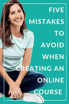 Mistakes to avoid when creating an online course