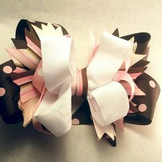 #craftshout Check out this item in my Etsy shop https://www.etsy.com/listing/224177244/boutique-hair-bow-stacked-hair-bow-big