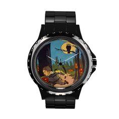 Jack O Lantern Owl Full Moon Running Child Watches