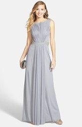 JS Boutique Drape Matte Jersey Chiffon Dress