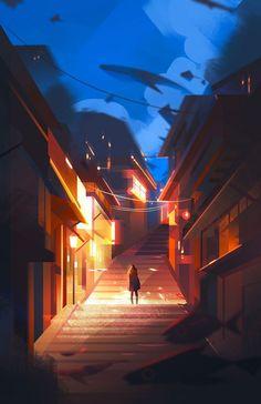 미국 로스 앤젤레스의 일러스트 레이터 '제니 유(Jenny Yu)'는 평범한 일상을 마법같은 일러스트로 제작 한다. 환상과 현실의 경계를 넘나드는 이 멋진 작품은 강렬한 색상과 조명, 심플한듯 무심한 캐릭터가 특징이다.