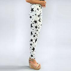 New Korean star fashion graffiti leggings pantyhose leggings wholesale milk silk printing