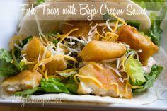 Fish Tacos with a Baja Cream Sauce