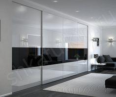 """Встроенный шкаф-купе """"Dafnis"""" с черно-белым фасадом – это всегда беспроигрышный вариант. На первый взгляд простой и лаконичный дизайн, но шкаф смотрится элегантно и стильно. Такая модель идеально дополнит современный интерьер, оформленный в светлых или контрастных тонах. Необходимо лишь расставить небольшие яркие акценты в виде элементов декора, сувениров, изысканных мелочей. Сочетание черного и белого – это классика, актуальная во все времена."""