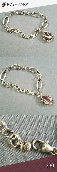 Brighton 2014 Breast Cancer Bracelet Brighton 2014 Breast Cancer Bracelet with beautiful pink stone. Only worn a couple of timea Brighton Jewelry Bracelets