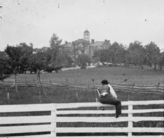Seminary Ridge, seen here with the Lutheran Theological Seminary building, formed the backbone of the Union position at Gettysburg on July 1st. The 1st Corps held the line until late in the afternoon when the 11th Corps fell back opening the right flank of the the 1st corps to enfilading fire forcing them to retire as well.