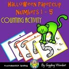Halloween Paperclip Numbers 1-5 by Giggling Wombat | Teachers Pay Teachers