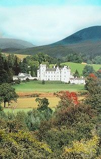 Blair Castle, Scotland, built in 1269 seat of the Clan Murray