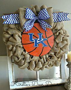 Kentucky Basketball Burlap Wreath on Etsy, $50.00
