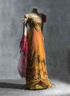 """Evening Dress by Callot Soeurs, ca. 1909-13. From the exhibition """"Fashion Forward"""" at Les Arts Décoratifs"""