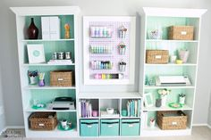 Check out this fabulously feminine home office makeover from JustaGirlandHerBlog.com | thisoldhouse.com
