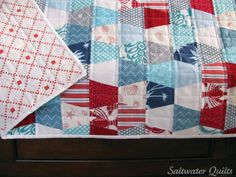 Saltwater Quilts: Tumblers Beach Bound - pretty color/print combo