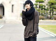 อยากได้ Sweater กับ ผ้าพันคอเลย #won jong jin #ulzzang #boy