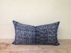 Ethnic Textile Tribal Design Indigo Hand Print by orientaltribe11, $45.00