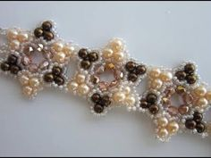 Video:  Bracelet with 4mm Pearl , 4mm Faceted Bead and size 11 SB.  Not English but nice annotated with each step. ~ Seed Bead Tutorials