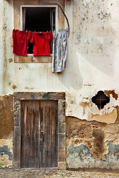 Lavado y secado de ropa. Escenas.