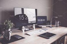 mmmMinimalist Home Office Workspace by Viktor Hanacek on @creativemarket