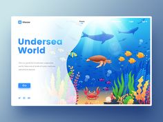 Undersea World designed by Joker for Panda Plus. Connect with them on Dribbble; the global community for designers and creative professionals. Powerpoint Design Templates, Creative Powerpoint, Web Layout, Website Layout, Layout Design, Web Design Examples, Undersea World, Graphic Design Inspiration, Layout Inspiration