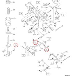 Front suspension diagram for SUBARU IMPREZA WRX Sti GV