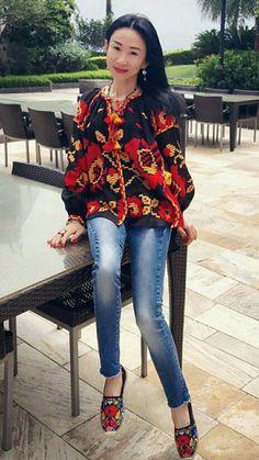 Embroidered Dresses, Ethnic Fashion, Folk, Blouse, Long Sleeve, Sleeves, Shirts, Ideas, Women