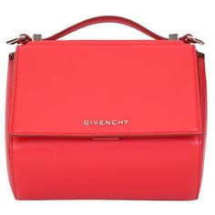 Givenchy Pandora Box mini leather bag (3 265 BGN) ❤ liked on Polyvore  featuring bags, handbags, shoulder bags, red, leather handbags, red  shoulder bag, ... 57fea2d85f