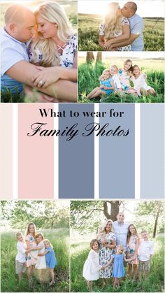 Family photos: what to wear? Blush and light blues see all our family photos th… Extended Family Pictures, Spring Family Pictures, Family Pictures What To Wear, Family Beach Pictures, Family Portraits What To Wear, Family Pics, Spring Photos, Family Family, Family Posing