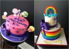 Candy Theme Cakes NJ for a Bat Mitzvah, Sweet 16 or Party by Cake & Co (Kosher) - mazelmoments.com