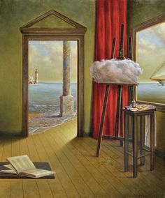 ImpressioniArtistiche: Antonio Nunziante Weird Creatures, Everyday Objects, Painting Techniques, Bar Stools, Surrealism, Artwork, Artists, Live, Home Decor