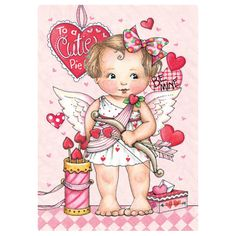Mary Engelbreit Greeting Card: Cutie's Arrow