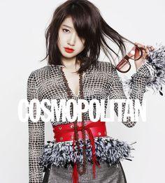 Park Shin Hye for Cosmo. She makes medium length hair look good.