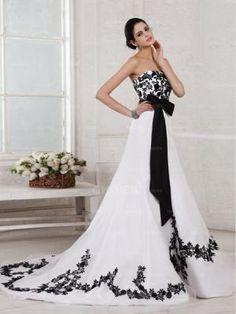 black  white wedding dress http://www.iwedplanner.com/wedding-vendors/wedding-dresses-and-attire/