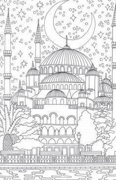 Omeletozeu – Modern Coloring book pages - Malvorlagen Mandala Ramadan Activities, Ramadan Crafts, Detailed Coloring Pages, Coloring Book Pages, Doodle Coloring, Mandala Coloring, Colouring In, Printable Adult Coloring Pages, Art Therapy Activities