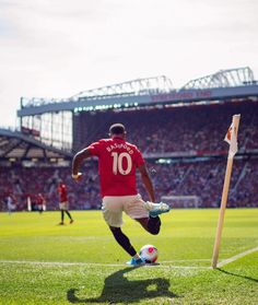 Ready to swing one in 💫 English Football League, Manchester United Players, Marcus Rashford, Dog Wallpaper, Action Poses, Man United, Football Players, Premier League, Cool Photos