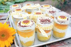 Summertime...in a jar.  Lemon cake!