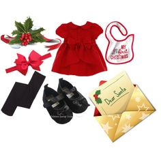 """""""Baby Girls 1st Christmas"""" by michelle-barrientos on Polyvore"""