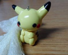 Cute Pikachu polymer clay charm. | WefollowPics