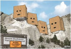Mount Rushmore Presidents Embarrassed by Government Shutdown