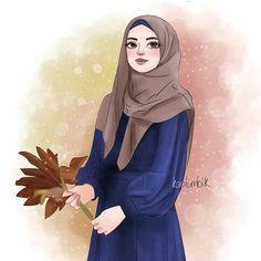 Girl Cartoon, Cartoon Art, Hijab Drawing, Anime Girl Pink, Islamic Cartoon, Anime Muslim, Hijab Cartoon, Profile Picture For Girls, Islamic Girl