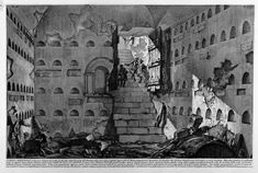 The Round Tower, plate III from `Carceri d`Invenzione` - Giovanni Battista Piranesi - WikiArt.org
