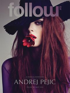 Andrej Pejic by Tiago Molinos. Fashion Cover, Love Fashion, Fashion Prints, Fashion Models, Androgynous Models, Transgender Model, Portrait, Editorial Fashion, Supermodels